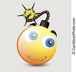Funny Comic Bomb Character