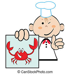 Funny cook, vector