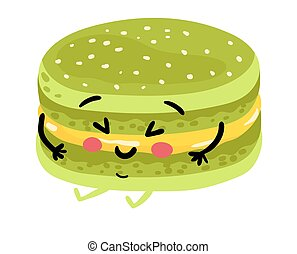 Funny cookie isolated cartoon character