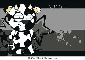 funny cow cartoon background9