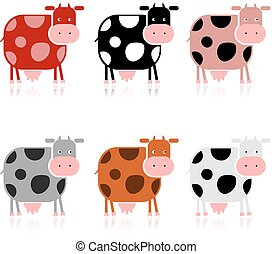 Funny cow, collection for your design