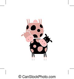 Funny cows for your design - Funny cow for your design....