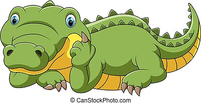funny crocodile cartoon