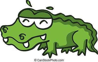 Funny crocodile design for kids
