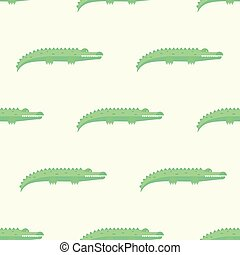 Funny Crocodiles Pattern. Vector Illustration