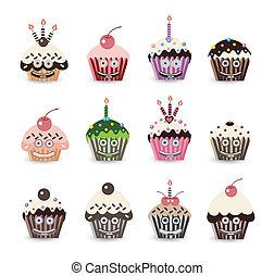 Funny Cupcake Birthday Smile