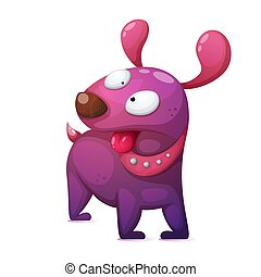 Funny, cute, crazy cartoon dog characters.