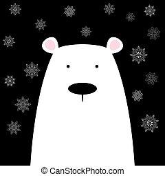 Funny cute polar bear.