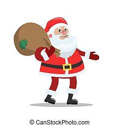 Funny cute Santa Claus