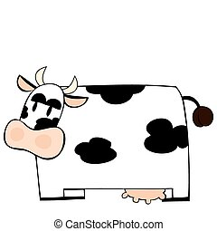 Funny dairy cow.