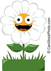 Funny Daisy in the ground