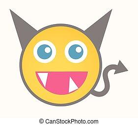 Funny Devil - Cartoon Smiley Vector