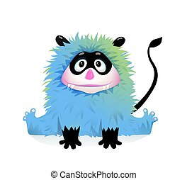Funny Devil Child Monster Character for Kids