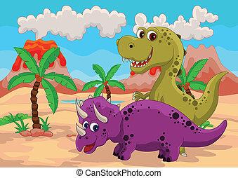 funny dinosaur cartoon