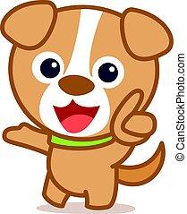 Funny dog cartoon vector art