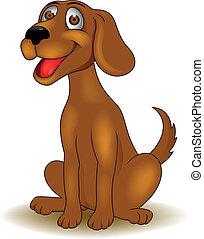 Vector illustration of funny dog cartoon