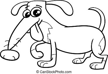 funny dog coloring book