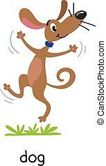 Funny dog vector illustration. Farm animals series