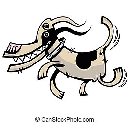 Funny dog. Vector illustration