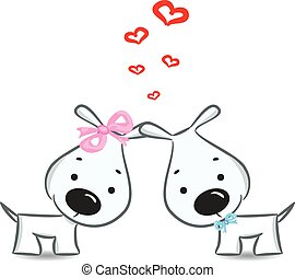 Funny dogs' couple