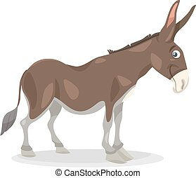 funny donkey cartoon illustration - Cartoon Illustration of...