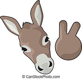 Funny donkey - Creative design of funny donkey