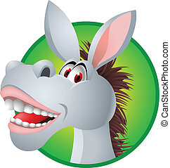 Funny donkey - Vector illustration of funny donkey head