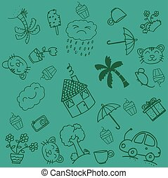 Funny doodle art for kids
