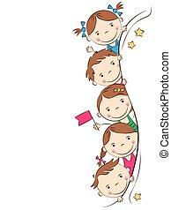 Funny doodle children