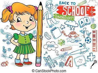 Funny doodles - Back to school.