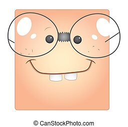 Funny Dumb Cartoon Face Smiley Box - Funny Dumb Cartoon Face...