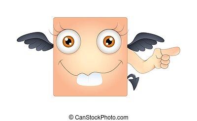 Funny Dumb Devil Smiley