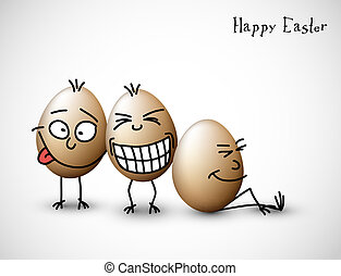 Funny easter eggs - Happy Easter Card
