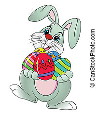 Funny easter rabbit - Easter rabbit with Easter egg