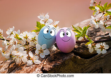 Funny eggs for Happy Easter