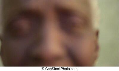 Funny elderly black woman