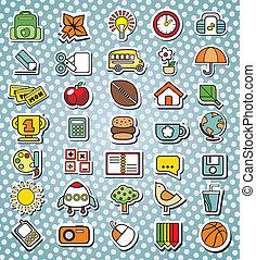 funny elementary school icons