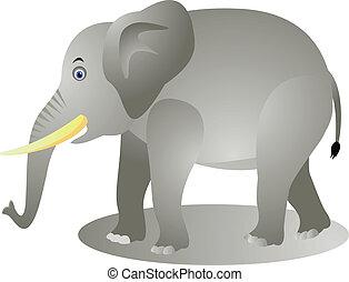 funny elephant cartoon