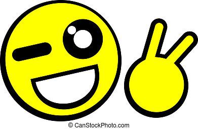 Funny emoticon