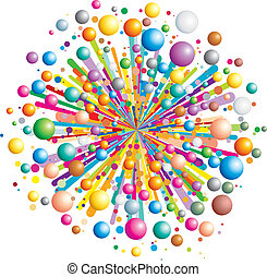 Funny Explode - Colorful funny explosion- cartoon vector...