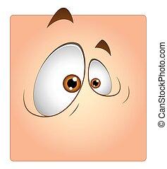 Funny Eyes Cartoon Box Smiley