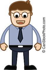 Funny Eyes Man - Business Cartoon