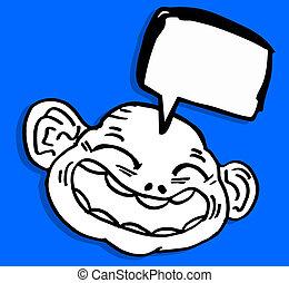 Funny face child cartoon