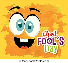 funny face expression to fools day