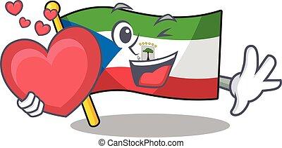 Funny Face flag equatorial guinea Scroll cartoon character ...