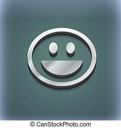 funny Face icon symbol. 3D style. Trendy, modern design with space for your text . Raster