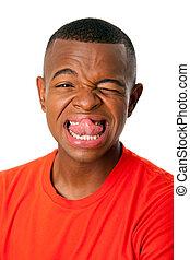 Funny facial expression