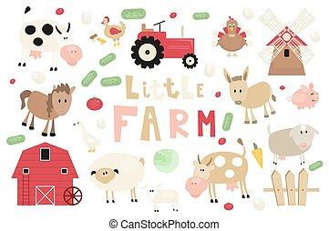 Funny Farm Animals Set