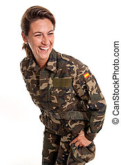 Funny female soldier