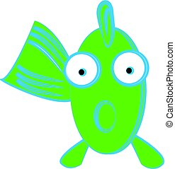 Funny fish on white background